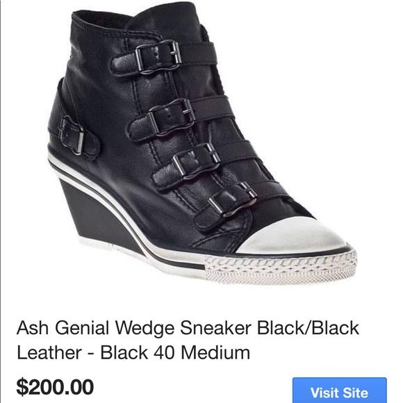 Ash Genial Wedge Black Sneakers   Poshmark
